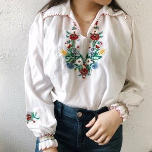 Vintage 70's Embroidery Top